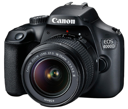 מצלמה דיגיטלית Canon EOS DSLR 4000D 18-55 רפלקס כולל עדשה – אחריות היבואן הרשמי