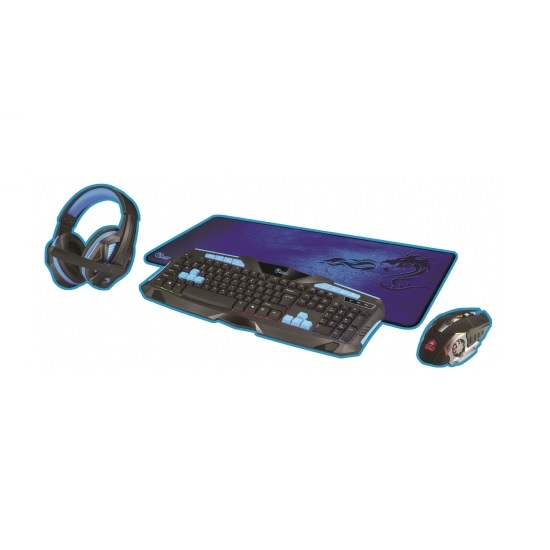 סט גיימינג DRAGON PC GAMING KIT COMBO 4 IN 1 דגם GPDRA-PCK-BL צבע כחול