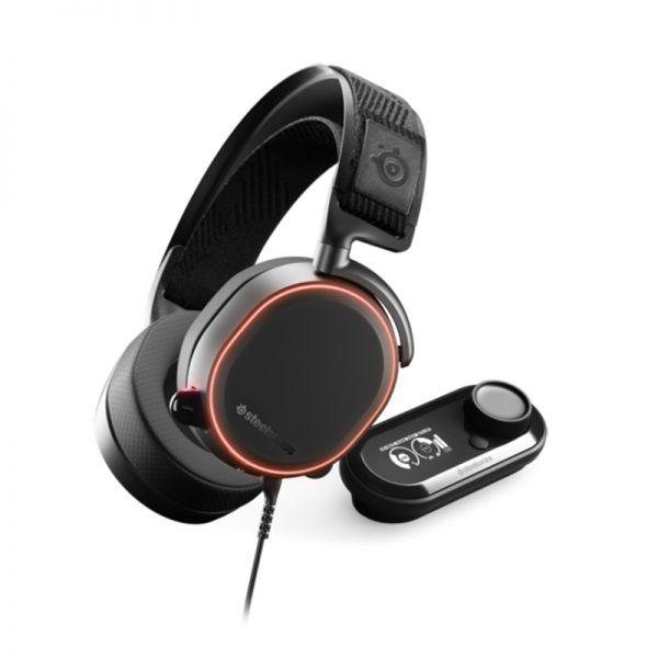 אוזניות גימינג Arctis Pro + GameDAC White  Steelseries צבע שחור