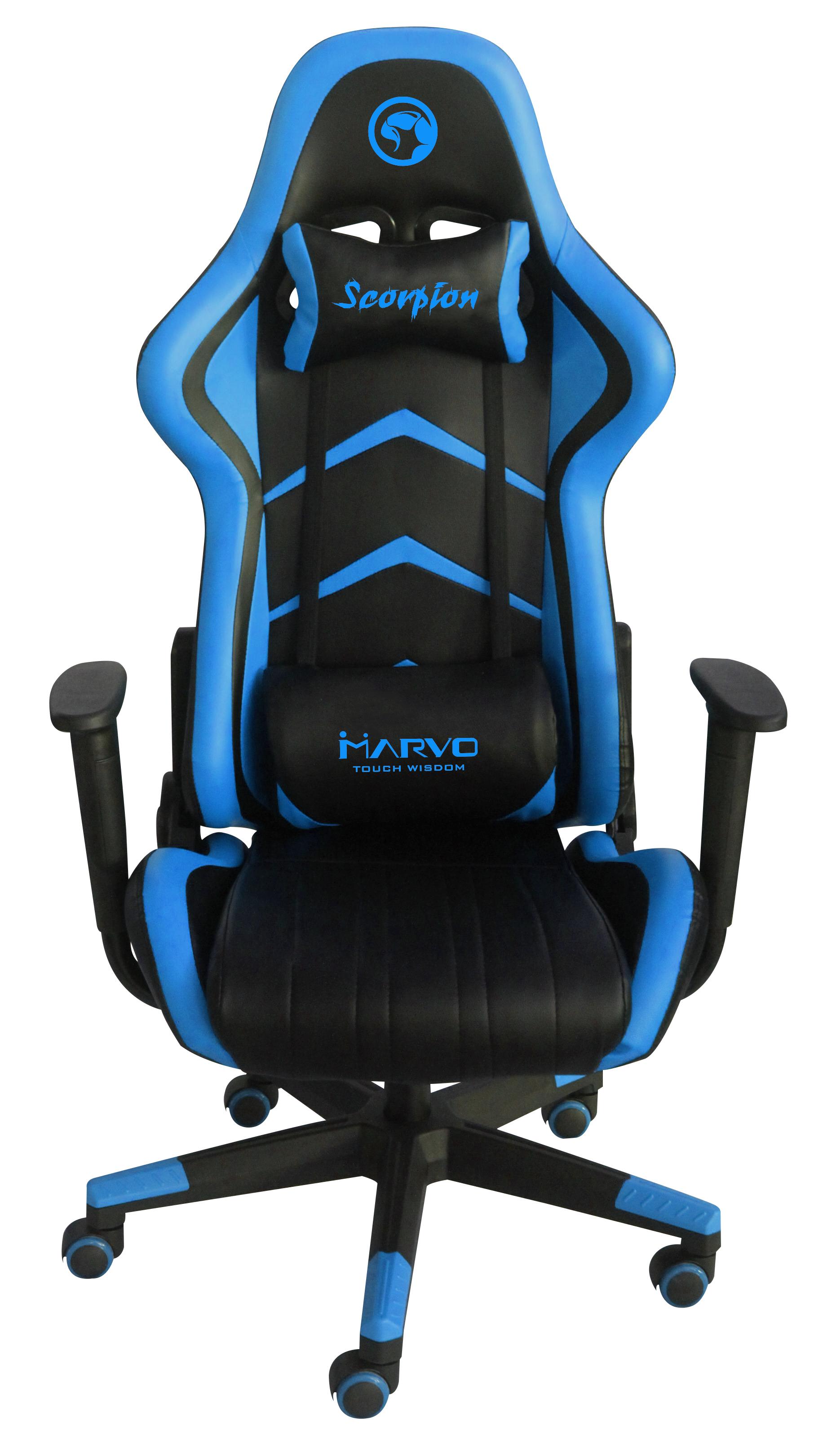 כיסא עור לגיימרים MARVO CH-106 צבע כחול
