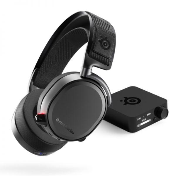 אוזניות גיימינג  אלחוטיות Arctis Pro Wir Steelseries 2.4G lossless צבע שחור