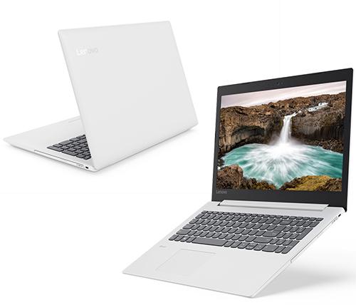 """מחשב נייד """"15.6 Lenovo IdeaPad 330-15 81DE00BKIV i3-7020U בצבע לבן, כונן 1TB + 128GB SSD, זכרון 8GB ומ.גרפי Intel 620"""