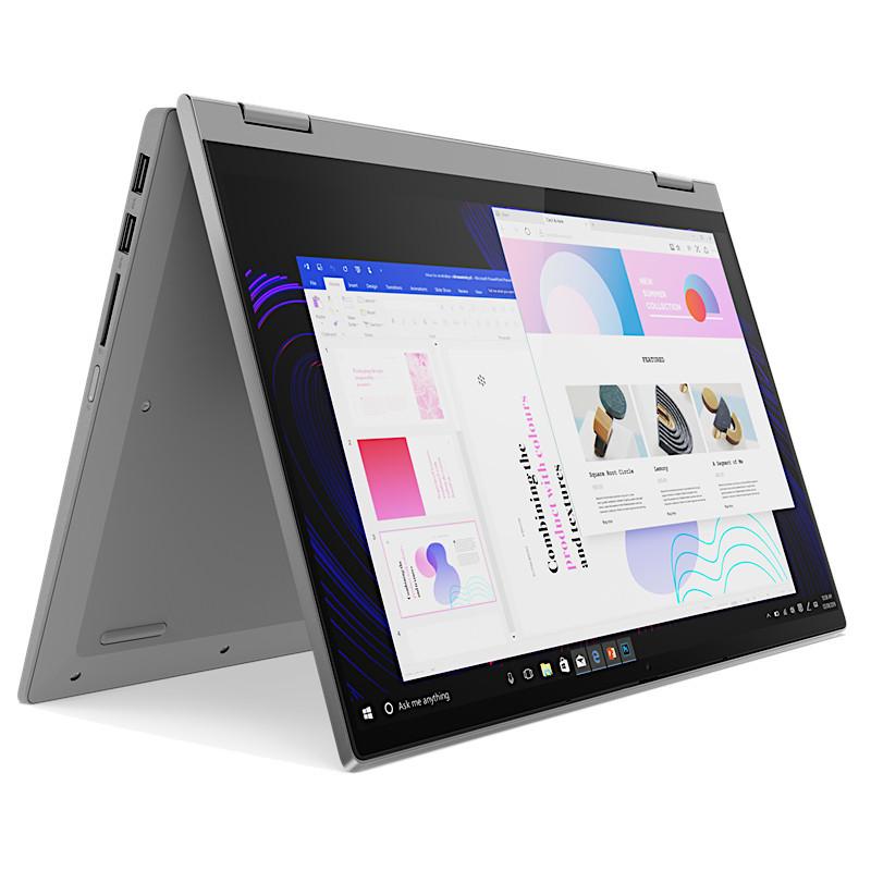 מחשב נייד מסך מגע 14″ לנובו  81X100BDIV IP Flex 5 14 I5 בצבע Platinum Grey