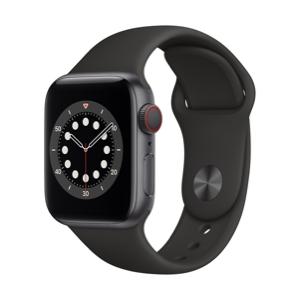 שעון חכם אפל כולל Apple Watch  6  44mm BLACK Band – M00H3HB/A GPS