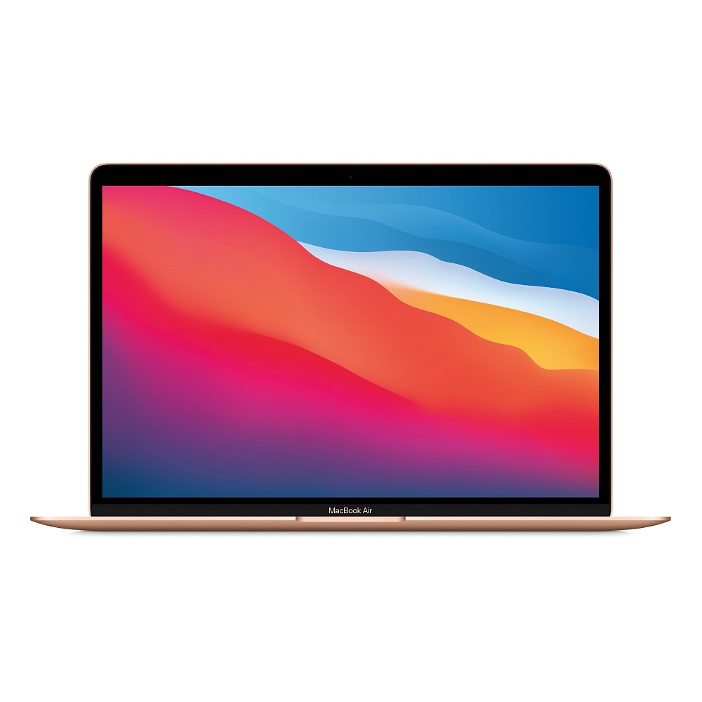 מחשב נייד אפל 13- MacBook Air: Apple M1   512GB – Gold MGNE3HB/A
