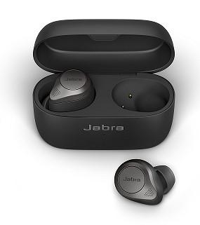 אוזניות אלחוטיות  Jabra TWS ANC Elite 85t WLC בצבע Titanium Black