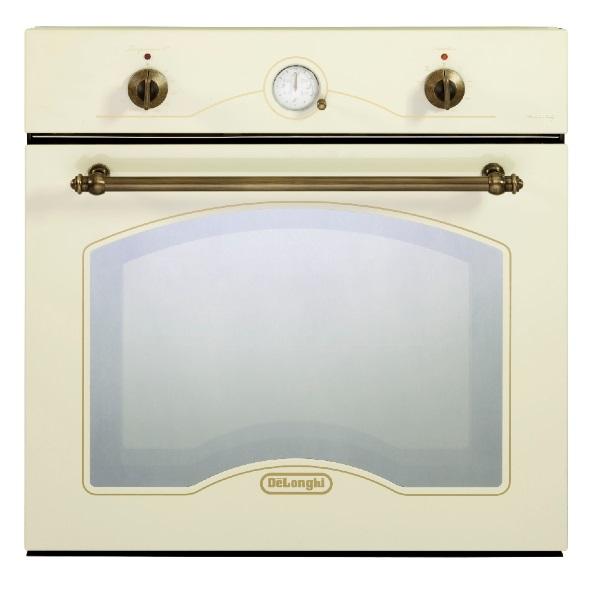 """תנור בנוי בעיצוב כפרי 60 ס""""מ עם 8 תוכניות דגם NDB344VN דלונגי DeLonghi בגוון וניל"""