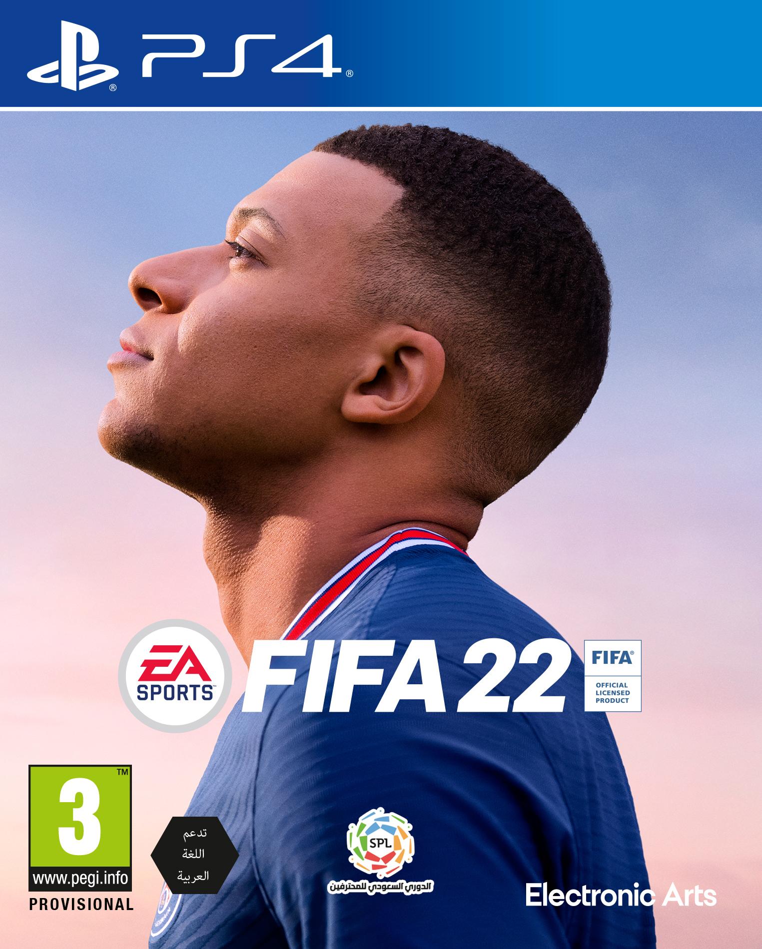 משחק לקונסולה גרסת FIFA 22 ARABIC ENGLISH – PS4 – השקה